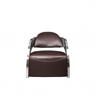 Zetta Silver Brown Accent Chair