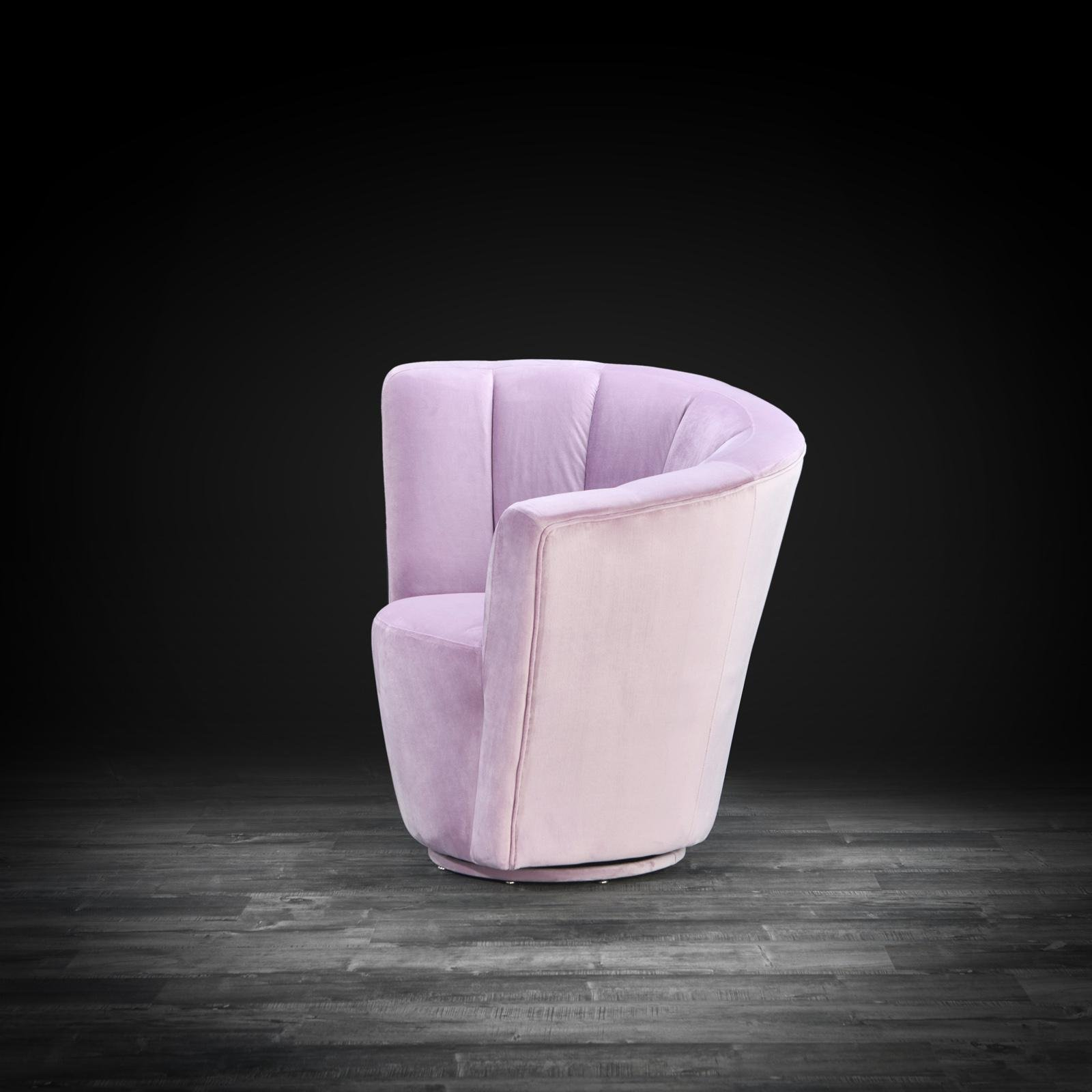 Picture of: Luxury Tulip Light Purple Laf Accent Chair Allamoda Modern Furniture