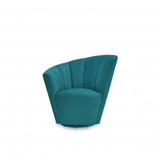 Tulip Dark Green RAF Accent Chair
