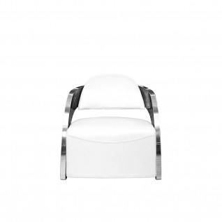 Zetta Silver White Accent Chair