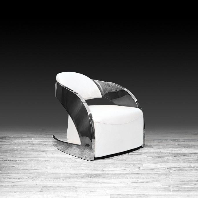 Terrific Zetta Silver Accent Chair White Ibusinesslaw Wood Chair Design Ideas Ibusinesslaworg