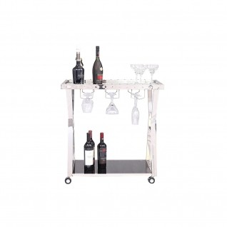 Oslo Silver Bar Cart