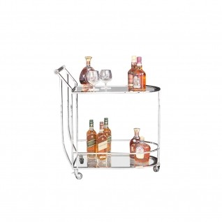 York Silver Bar Cart