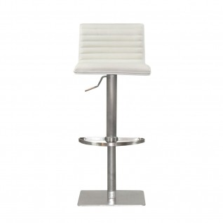 Horizon White Back Bar Stool
