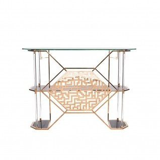 Varossi Rose Gold Bar Table
