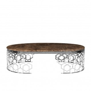 Alveare Large Silver Coffee Table