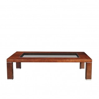 Demeter Glass Top Rectangular Coffee Table