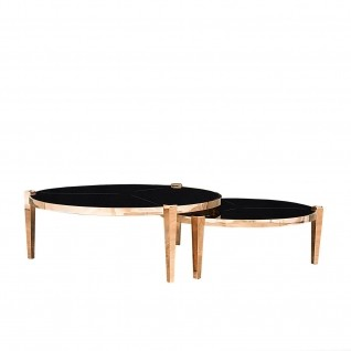 Enzo Rose Gold Round Coffee Table