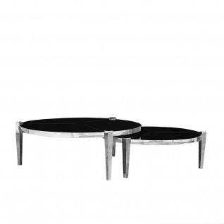 Enzo Silver Round Coffee Table