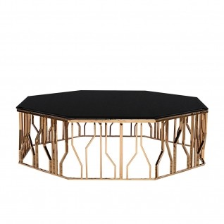Lorensia Rose Gold Large Coffee Table