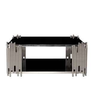 Mauris Square Silver Glass Coffee Table