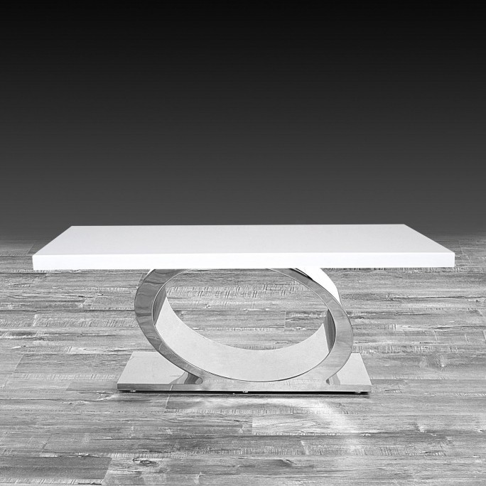 Onyx Coffee Table Silver White