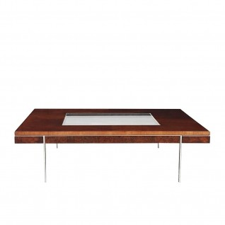 Demeter Glass Top Square Coffee Table