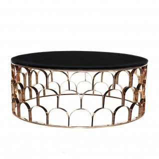 Sequenza Rose Gold Round Coffee Table