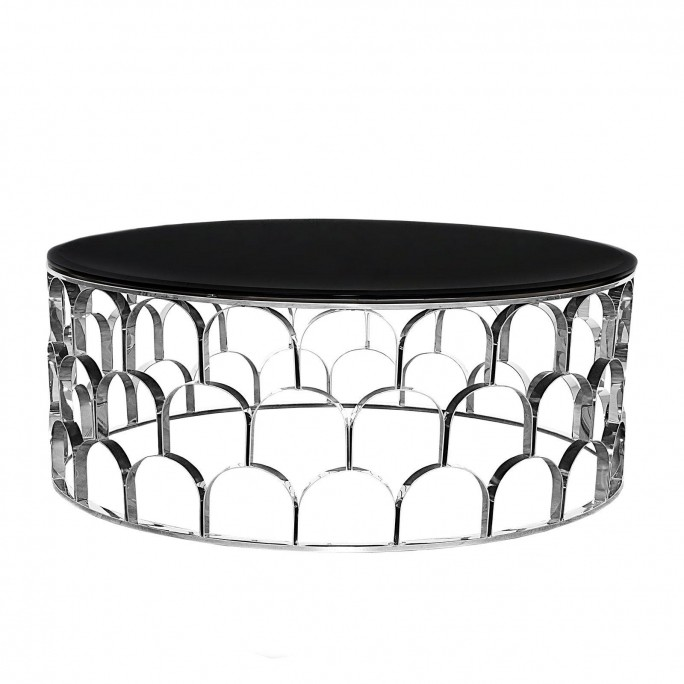 Rnd Silver Coffee Table Sequenza