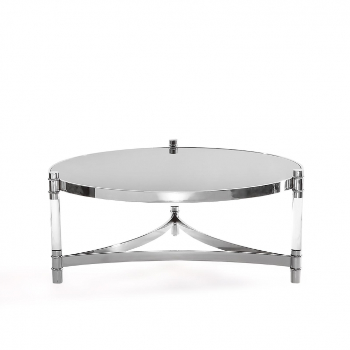Varossi Round Coffee Table Silver