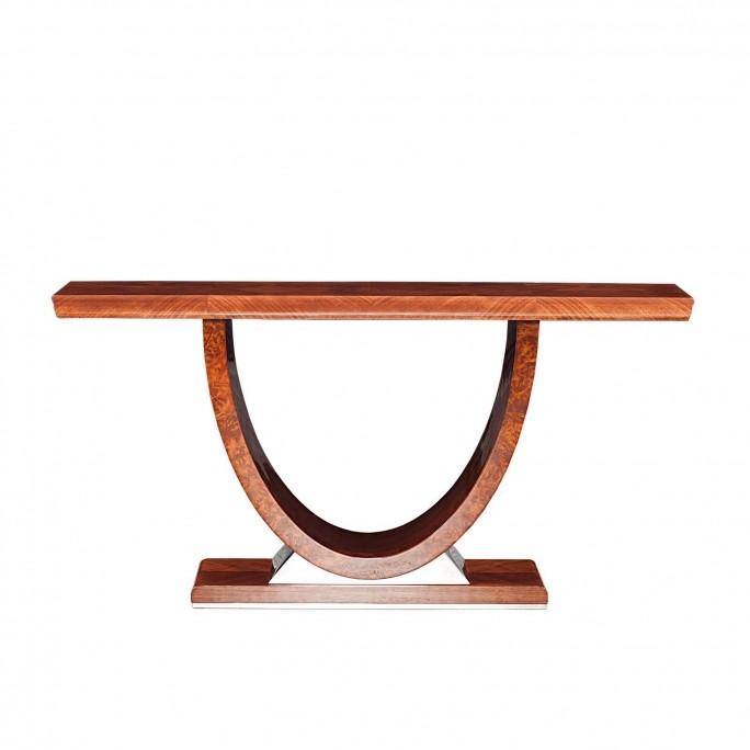 Aliossio Brown Lacquered Console Table