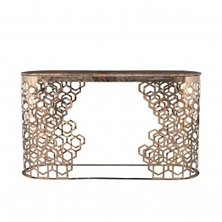 Alveare Rose Gold Console Table