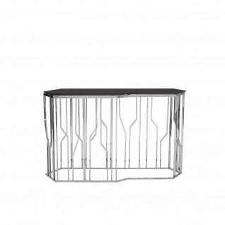 Lorensia Silver Glass Console