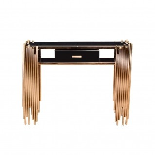 Mauris Rose Gold Console Table