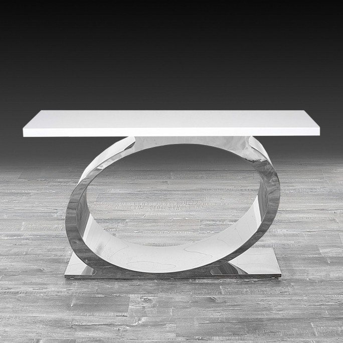 Onyx Silver Console Table