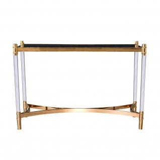 Varossi Rose Gold Console Table