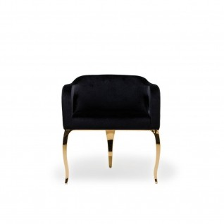 Caprice Gold Black Dining Chair