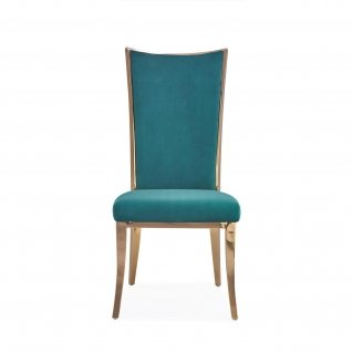 Massimo rose gold dining chair