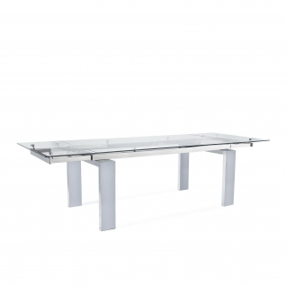 Largo Polished Clear Extendable Table