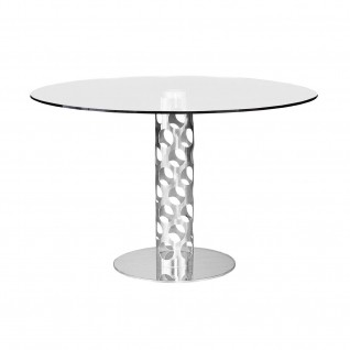 Levine Polished Round Dining Table