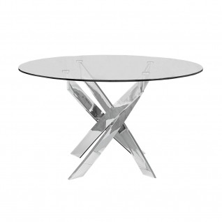 Loki Silver Glass Dining Table