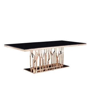 Lorensia Rose Gold Dining Table
