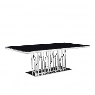 Lorensia Silver Dining Table