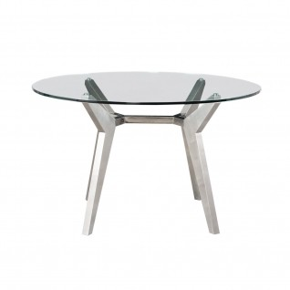 Rendel Silver Round Dining Table