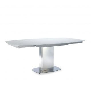 Roland matte White Extendable Table