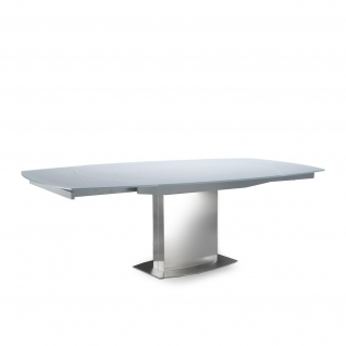 Romeo matte Gray Extendable Table
