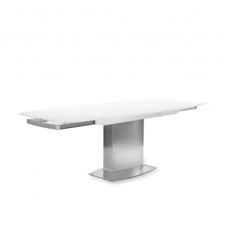 Romeo matte White Extendable Table