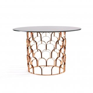 Sequenza Rose Gold Round Dining Table