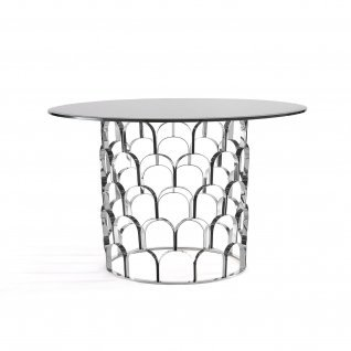 Sequenza Silver Round Dining Table
