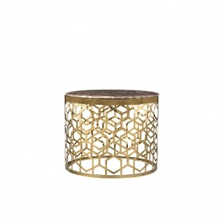 Alveare End Table| Rose Gold