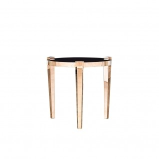Enzo Rose Gold Round End Table