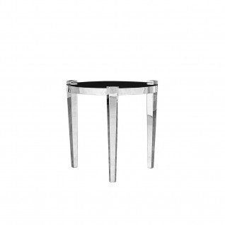 Enzo Silver Round End Table