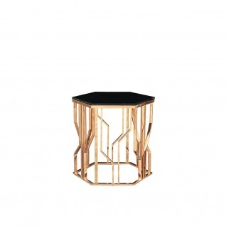 Lorensia Rose Gold End Table