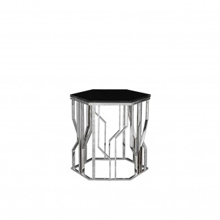 Lorensia Silver End Table