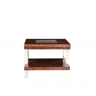 Demeter Glass Top End Table