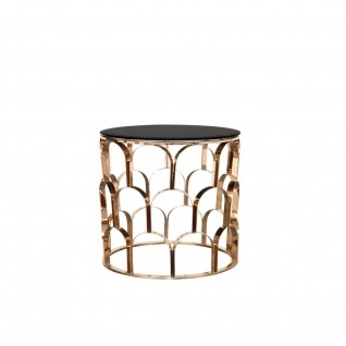 Sequenza Rose Gold Round End Table