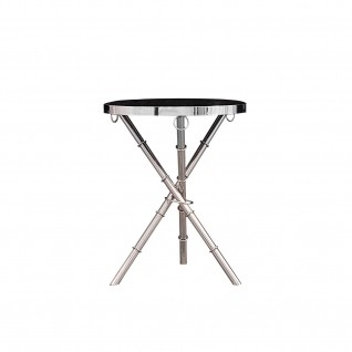 Trinity Silver Glass End Table