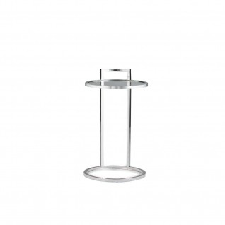 Valo Silver Glass End Table