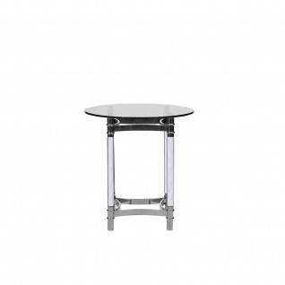 Varossi Silver Round End Table