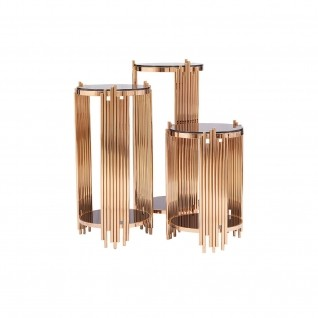 Mauris Rose Gold Flower Stands
